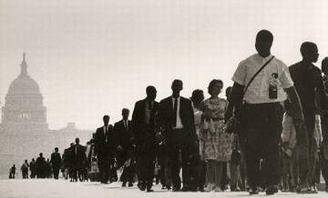 :: Martin Luther King in marcia su Washington, 28 agosto 1963 ::